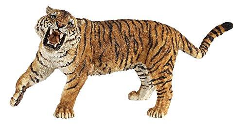 Papo Roaring Tiger Figure, Multicolor ()