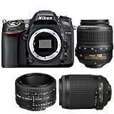 Nikon D7100 DSLR Camera - International Version (No Warranty) with 18-55mm f/3.5-5.6G VR AF-S DX Nikkor Lens + MORE