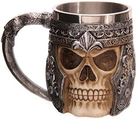 Itian Grande pichel de cráneos, Jarra de cerveza, diseño de calavera, Patrón de 3D Cráneo
