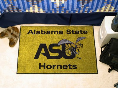 Fanmats Official Hornets Area Rug w Alabama State University Logo & Team Colors by Fanmats