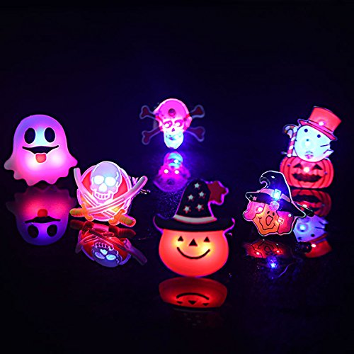 Toys & Gifts - Pier Pumpkin Orange Flashing Picture Pins Buttons Make Glowing Badge - 2pcs Kids Halloween Led Brooch Halloween Kids Party Supplies Led Flashing Light Brooch -