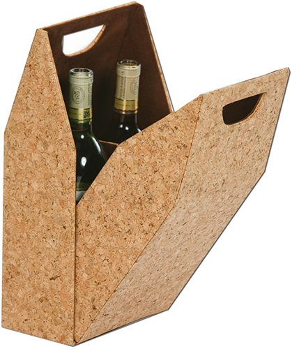 Picnic Plus Double Bottle Cork Covered Tote