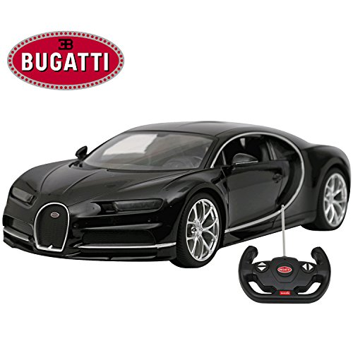Licensed RC Car 1:14 Scale Bugatti Chiron | Rastar Radio Remote Control 1/14 RTR Super Sports Car Model Black