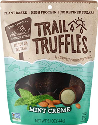 Trail Truffles - Vegan, Paleo Friendly Superfood Protein Balls - Healthy, Plant Based, Gluten Free, Dairy Free, Soy Free, Non-GMO Snacks (Mint Crème, 1 Pack)