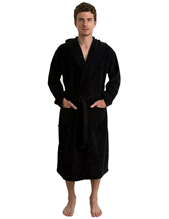TowelSelections Men\'s Robe, Hooded Terry Velour Cotton Bathrobe Made ...