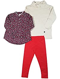 Girls 3 Piece Legging/Pant Set with 2 Long Sleeve Tops...
