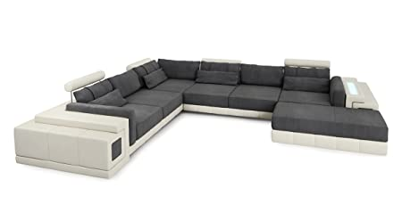 Sofa Couch Wohnlandschaft Leder Designsofa Stoff Ecksofa Eckcouch U