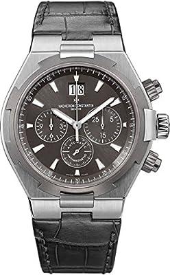 Vacheron Constantin Overseas Mens Grey Leather Chronograph Watch 49150/000W-9501