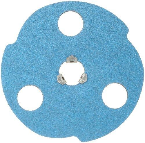 Norton BlueFire F826P AVOS Edger Speed-Lok Abrasive Disc, Fiber Backing, Zirconia Alumina, 5 Diameter, Grit 50 (Box of 10) by Norton Abrasives - St. Gobain