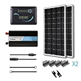 RENOGY 200 Watt 12 Volt Monocrystalline Solar Battery Ready Kit with Adventurer Charge Controller
