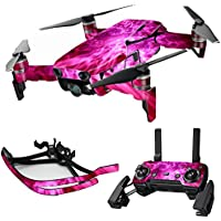 MightySkins Skin for DJI Mavic Air Drone - Red Mystic Flames   Max Combo Protective, Durable, and Unique Vinyl Decal wrap cover   Easy To Apply, Remove, and Change Styles   Made in the USA
