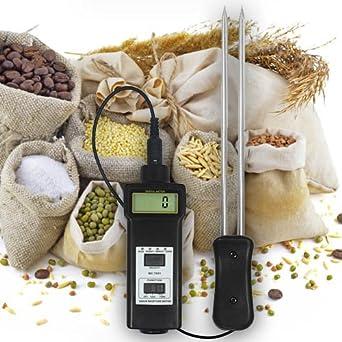 Humedad y Temperatura Medidor Tester Comprobador (cereales, forro Medio, alimentos) Trigo/avena heno/paja Café/Harina/Arroz... F15 de FBA: Amazon.es: ...