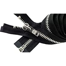 "Sale 27"" Jacket Zipper (Special Custom) YKK #8 Extra Heavy Duty Aluminum Separating ~ Color Black (1 Zipper/pack)"
