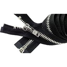 "Sale 25\"" Jacket Zipper (Special Custom) YKK #8 Extra Heavy Duty Aluminum Separating ~ Color Black (1 Zipper/pack)"