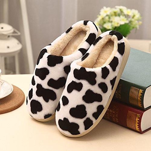 fond 37 imprimé chaussons femmes hommes lait dur sexy couples accueil 6 et print intérieur chaussons des fond n° avec Le coton leopard joli paquet d'hiver mou coton le en pension léopard 39 demi qzxCS6