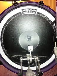 aquarian drumheads skiii22bk super kick iii single 22 inch bass drum head with dot. Black Bedroom Furniture Sets. Home Design Ideas
