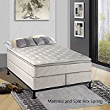 Continental Matress,Medium Firm Orthopedic 10'' Fully Assembled Pillow Top Mattresss and 5-inch Split Box Spring,  King