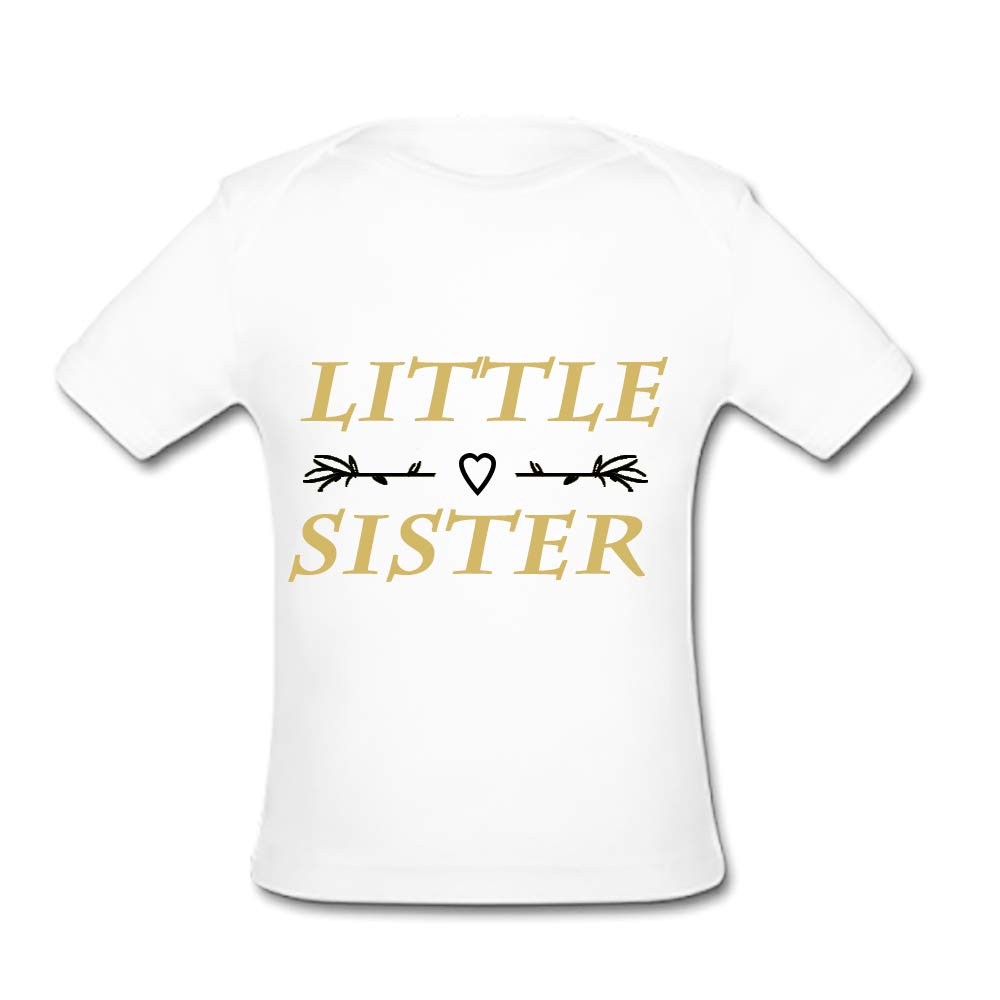 UlanLi Infant Tee Little Sister Baby Organic Short Sleeve T-Shirt White