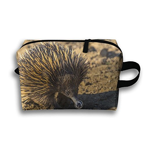 Echidna Animal Natural Scenery Travel / Home Use Storage Bag, Carts Storage Space, Foldable Packing Bags, Organizers Backpack Set by JIEOTMYQ