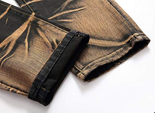 Classiche Jeans High Uomo gelb Vintage Casual Tough 519 Pantaloni Vita A Tasche Da Denim Semplice Stile RfwRzBq