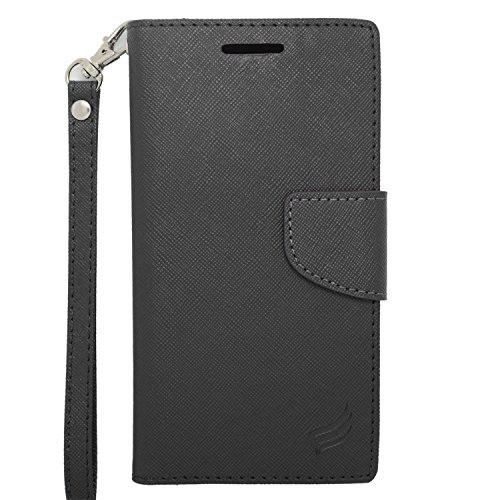 Eagle Cell Flip Wallet PU Leather Protective Case for HTC Desire 510 - Retail Packaging - Black