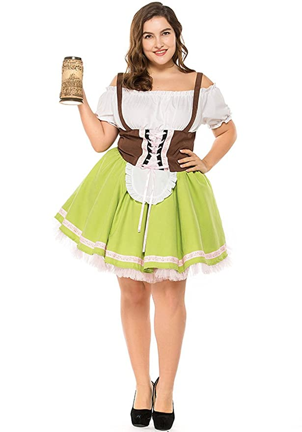 Amazon.com: XFentech Fat Ladies Dirndl Skirt, Bavarian Oktoberfest Fancy Dresses, Dirndl Dress: Clothing