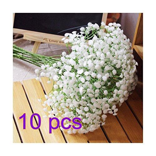 soothiing seda Gypsophila Artificial flores boda decoración para el hogar regalo (10pcs)