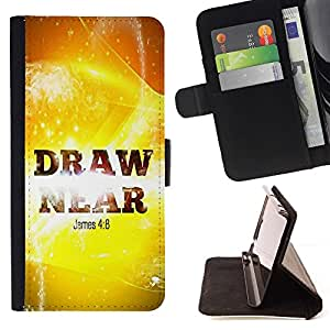 Momo Phone Case / Flip Funda de Cuero Case Cover - BIBLIA Santiago 4: 8 Acercaos; - Apple Iphone 6 PLUS 5.5
