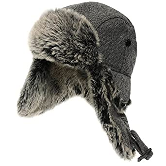 a80377bf3ca Firetrap Wool Trapper Hat Snow Winter Warm Accessories  Amazon.co.uk   Clothing