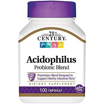 21st Century Acidophilus Capsules, 100 Count