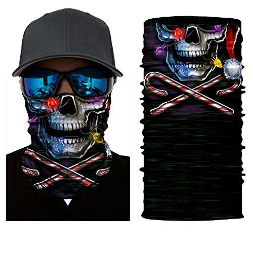 Badass Little Girl Costumes (12-in-1 Magic Scarf,Skeleton Skull Flag Seamless Bandana, Face Mask,fishing mask, Thin Ski Mask, Neck Warmer Balaclava Bandana for Raves, Dust, Riding Bike, Motorcycle, Outdoor Activities (clown))