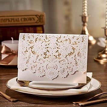 20 x luxury laser cut wedding invitation cards amazon 20 x luxury laser cut wedding invitation cards stopboris Choice Image