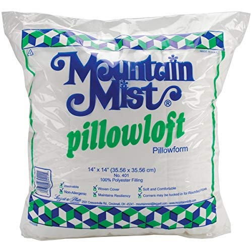 - Mountain Mist Pillowloft Pillowforms, 14-inch-by-14-inch