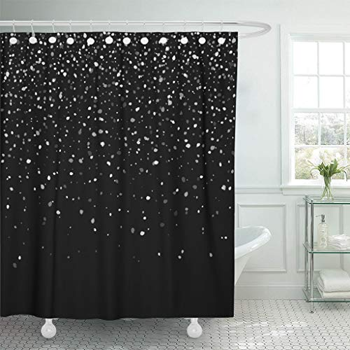 Emvency Fabric Shower Curtain Curtains with Hooks Face