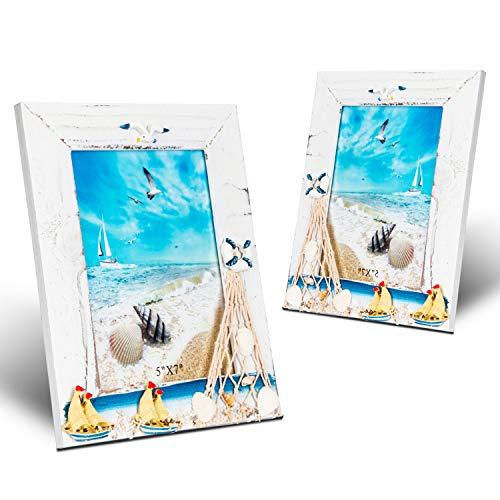 - Gorse Wooden Photo Frame Sea Gull Decorative Lateral Picture Frame Study Children Room Random Sail 5