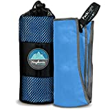 Youphoria Outdoors Microfiber Travel Towel – Ideal Fast Drying Towels for Camping,Travel, Beach, Backpacking, Gym, Sports, and Swimming – Lightweight, Quick Dry and Absorbent – 3 Sizes
