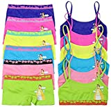 ToBeInStyle Girls' Pack of 6 Set of Matching Bras & Boyshorts (Medium (Ages 7-11), Cloudy Magical Girl)