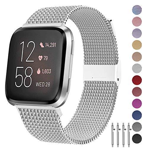 🥇 JuQBanke Bands Compatible for Fitbit Versa/Versa Lite Edition/Versa 2 Smart Watch for Women and Men