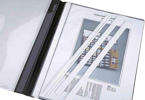 DURABLE 292402 - Dorsino protettivo, ideale per nascondere e proteggere il pressino fermafogli, per cartelline ad aghi f.to A4, bianco, confezione da 50 pezzi