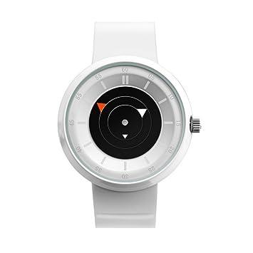 GAOY Watch Relojes Pareja Reloj Cuarzo Impermeable Moda Personalidad Multifunción Reloj Redondo,White: Amazon.es: Electrónica