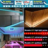 Muzata 6-Pack 3.3ft 9x17mm U Shape LED Aluminum