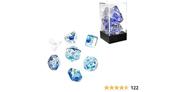 Details about  /CHX27466 Nebula Dark Blue White Polyhedral 7 Die Set