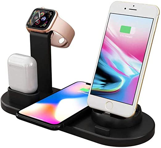 Base De Soporte De Estación De Carga Inalámbrica para iPhone X/XS ...
