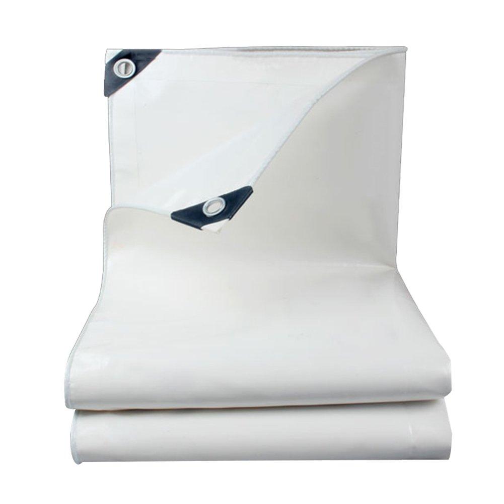 AJZGF Im Freien Plane, im Freien Wasserdichte Plane Zelt Tuch Doppelseitige feuchtigkeitsdichten Fracht Staub Tuch Hochtemperatur-Anti-Aging (Farbe : Weiß, größe : 2x2m)