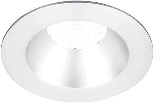 50 90+CRI and 3000K WAC Lighting R2BSD-F930-WT Oculux 2 LED Square Open Reflector Trim with Light Engine and Universal Housing in White Finish Flood Beam