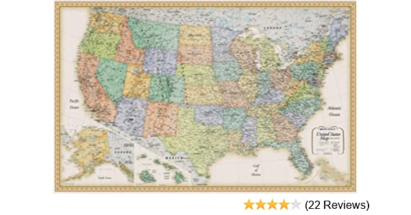 Rand Mcnally United States Wall Map (Classic Edition United States ...