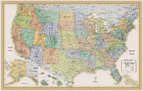 Give Me A Map Of The United States.Rand Mcnally United States Wall Map Classic Edition United States