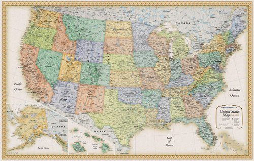 Rand Mcnally United States Wall Map (Classic Edition - Where Is Rand