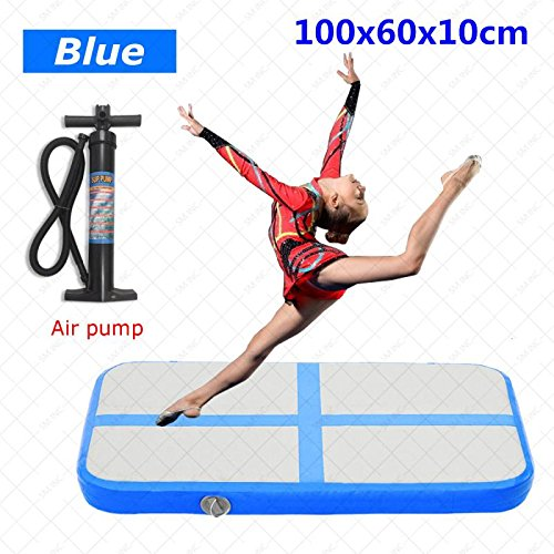 HUD Airtrack Inflatable Gym Mat- Home Air Floor Tumbling Mat for Gymnastics Cheer Lake or Pool. Air Tracks for Tumbling. Pick your size. Professional Quality at a great price.