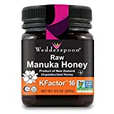 Wedderspoon Raw Premium Manuka Honey KFactor 16+, 8.8 Ounce